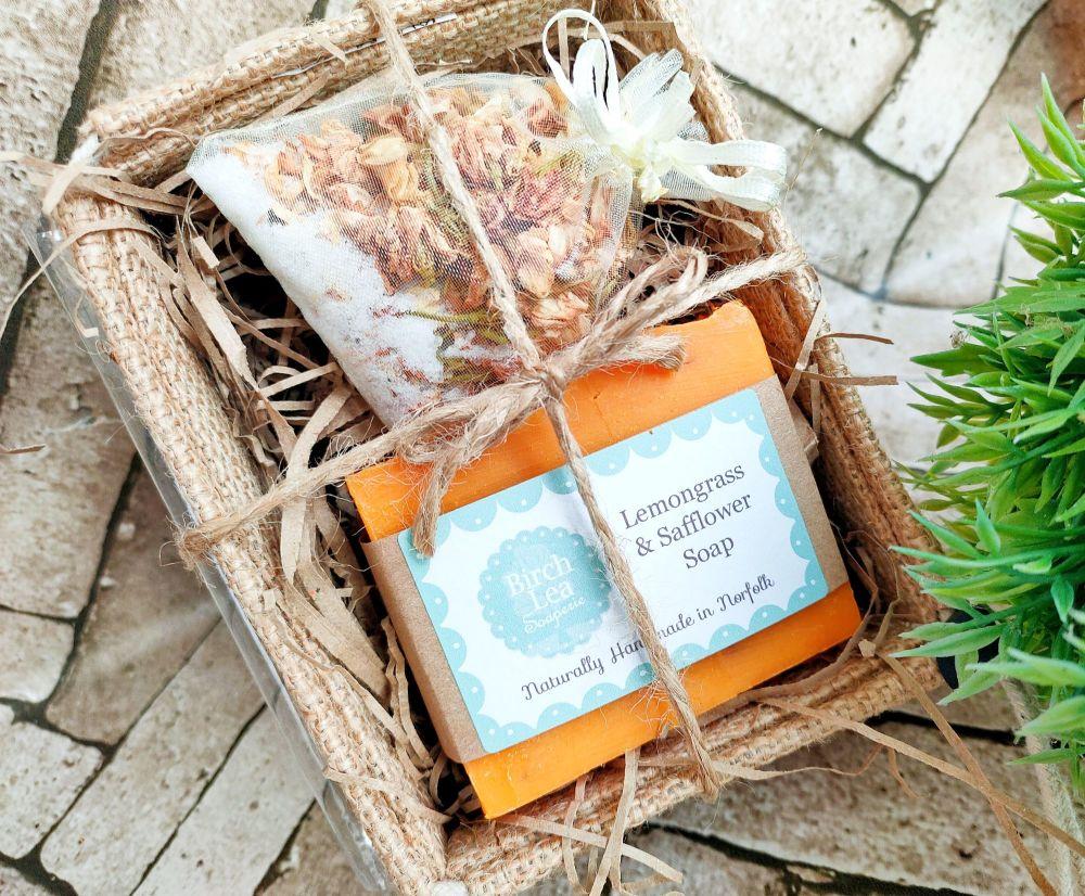 Soap and bath tea gift set