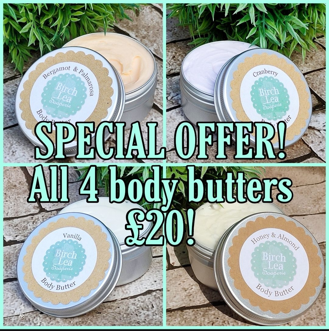 All four body butters!