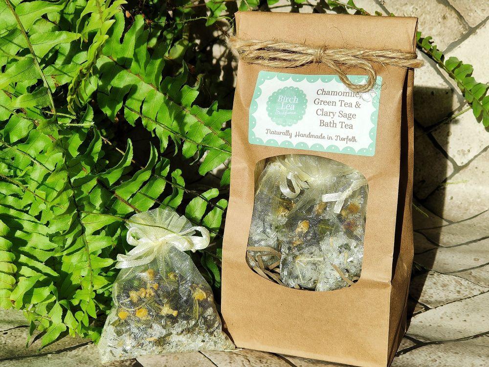 Chamomile, Green Tea & Clary Sage Bath Tea