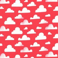 Pitter Patter Cloudy Coral Michael Miller Fabrics