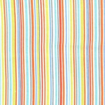 Flannel/Brushed Cotton Slender Stripe Blue Michael Miller Fabrics