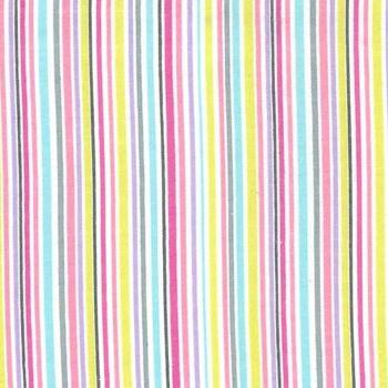 Flannel/Brushed Cotton Slender Stripe Pink Michael Miller Fabrics