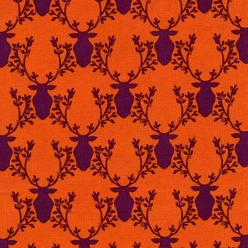 Rustique ~ Michael Miller Fabrics ~ Deer ~ Orange