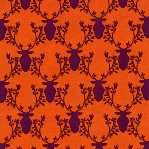 Michael Miller Rustique Deer on Orange