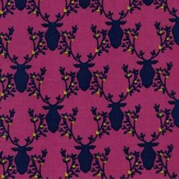 Rustique Deer Pink Michael Miller Fabrics
