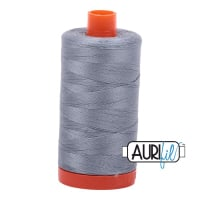 Aurifil ~ 50wt ~ 1300 metres  ~ 2610 ~ Light Blue Grey