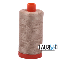 Aurifil 50w Cotton 1300 Metre Spool Sand 2326