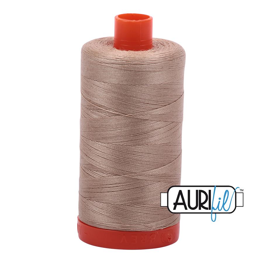 Aurifil 50w cotton 1300 metre Sand 2326