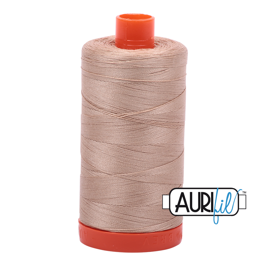 Aurifil 50w cotton 1300 metre spool Beige 2314