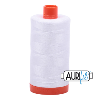 Aurifil 50w Cotton ~ 1300m ~ White 2024