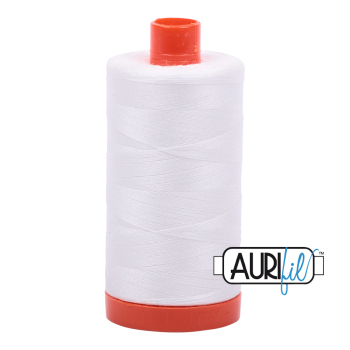 Aurifil 50w Cotton 1300 Metre Spool Natural White 2021