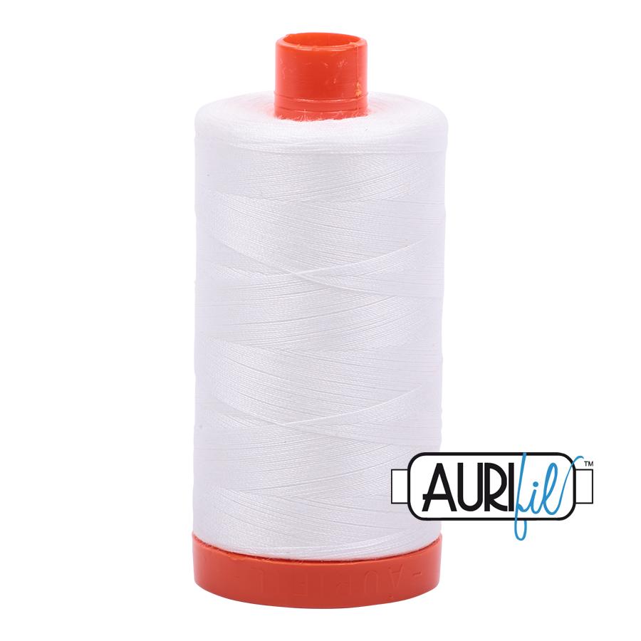 Aurifil 50w Cotton 1300 Metre Spool Natural White 2021