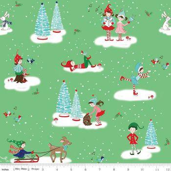 Pixie Noel by Tasha Noel Main Green Riley Blake Designs