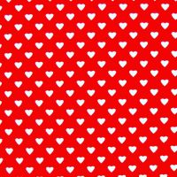 Classiques ~ Hearts ~ Small White Hearts  on  Red ~ Sevenberry ~ Back in Stock