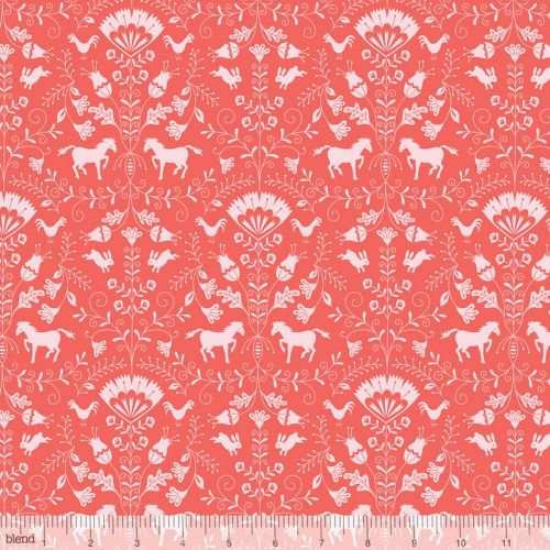 Hill and Dale Thistle Coral Ana Davis by Blend