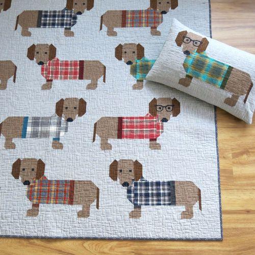 Dogs in Sweaters Pattern by Elizabeth Hartman