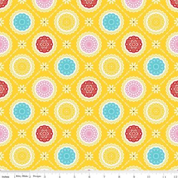 Happiness is Handmade Riley Blake Doily Yellow