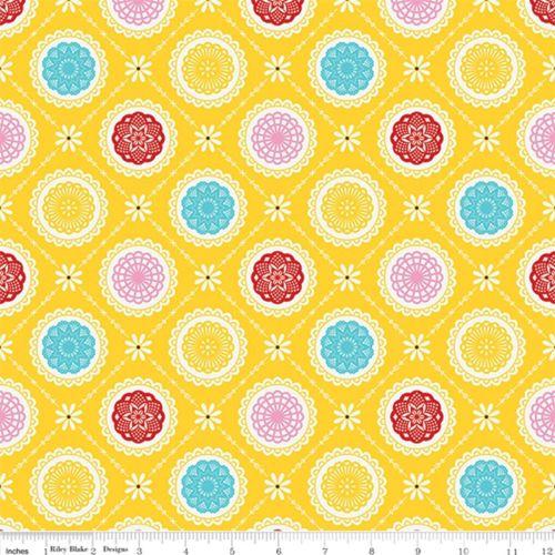 Happiness is Handmade Riley Blake Doily Yellow