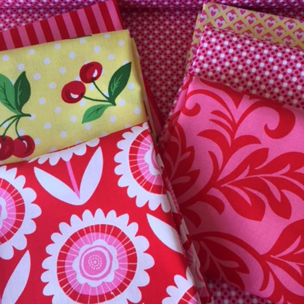 Red and Yellow Collection Michael Miller Fabrics