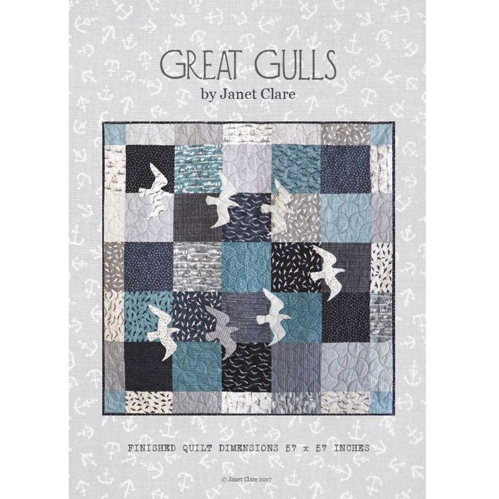 Janet Clare Great Gulls Pattern