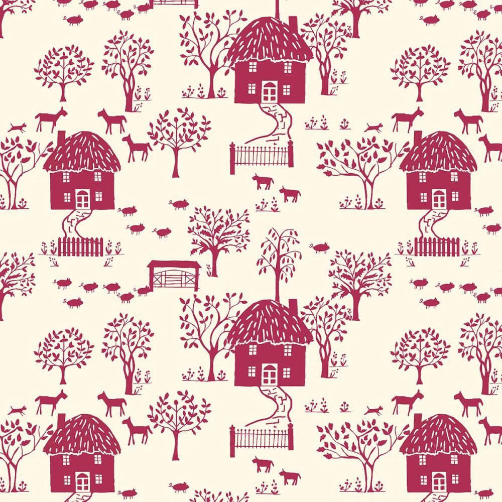 The Cottage Garden by Liberty Cottage Lane X (Burgundy)