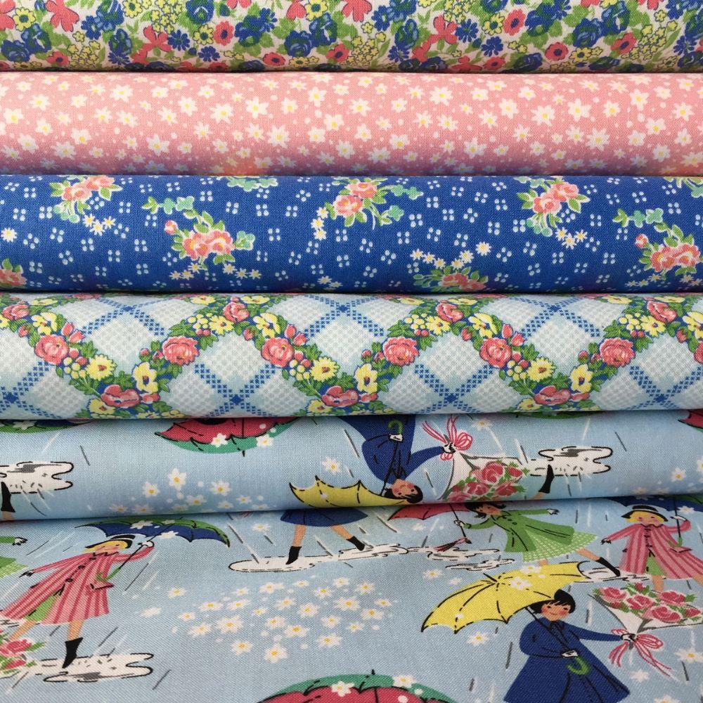 Mae Flowers Penny Rose Fabrics