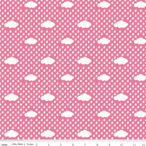 Bloom Where You're Planted by Riley Blake Designs Rain Clouds in Pink