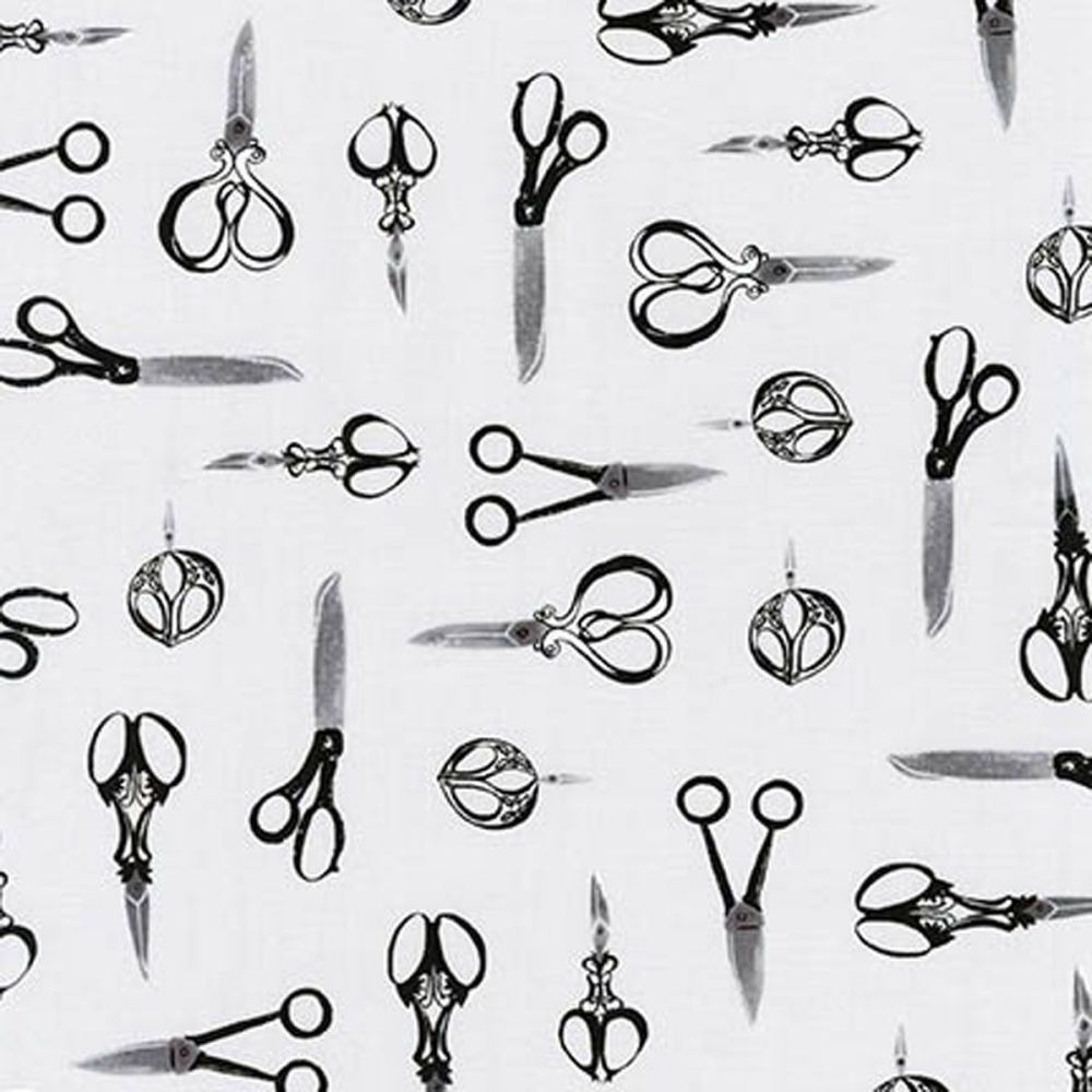 Sewn With Charm ~ Robert Kaufman ~ Scissors