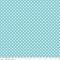 Small Dots ~Riley Blake Designs ~Aqua