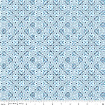 May Belle ~ Penny Rose Fabrics ~ Wallpaper ~ Blue