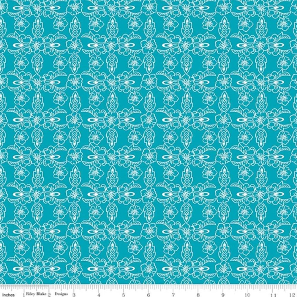 The Handpicked Collection ~ Riley Blake Designs ~ Violet ~ Teal