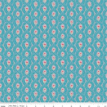 The Handpicked Collection ~ Riley Blake Designs ~ Trellis ~ Teal