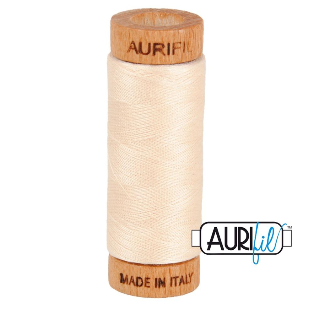 Aurifil 80w Cotton ~ 280m ~ 2000 ~ Light Sand