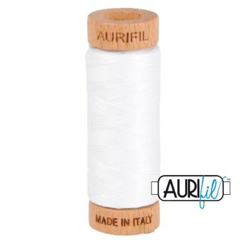 Aurifil 80w Cotton ~ 280m ~ 2024 ~ White