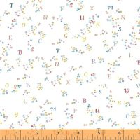 My Imagination ~ Windham Fabrics ~ Dotty Letters ~ White ~ 51161-4