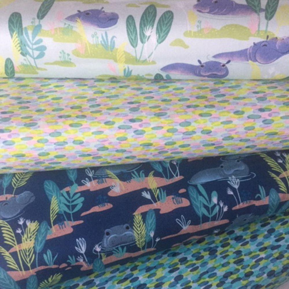 Congo Hippos ~ Blend Fabrics