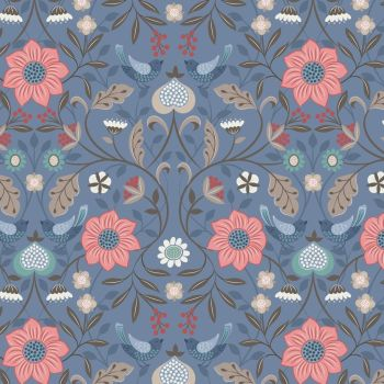 Michaelmas ~ Lewis and Irene  ~ Little Bird Floral ~ Blue