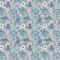 Michaelmas ~ Lewis and Irene  ~ Multi Floral ~ Light Blue