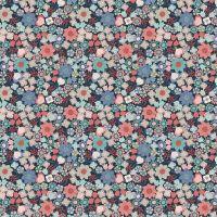 Michaelmas ~ Lewis and Irene  ~ Multi Floral ~ Dark Blue