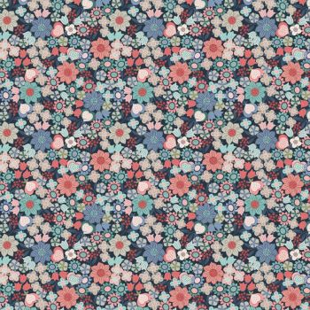 Michaelmas ~ Lewis and Irene  ~ Multi Floral ~ Dark Blue