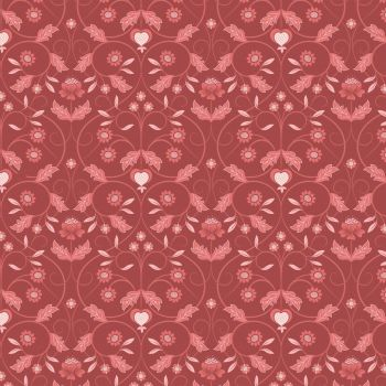 Michaelmas ~ Lewis and Irene  ~ Floral Mono ~ Red