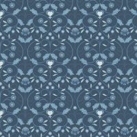 Michaelmas ~ Lewis and Irene  ~ Floral Mono ~ Blue