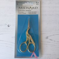 Milward Embroidery Scissors 9cm  Stork ~ Gold