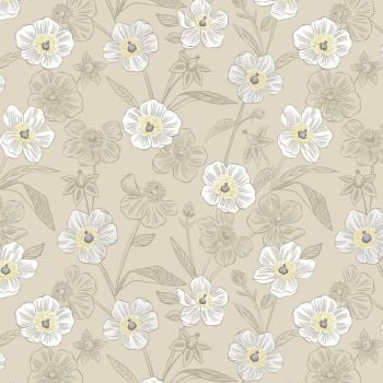 Botanic Garden ~ Lewis and Irene ~ Rambling Floral ~ Dark Cream
