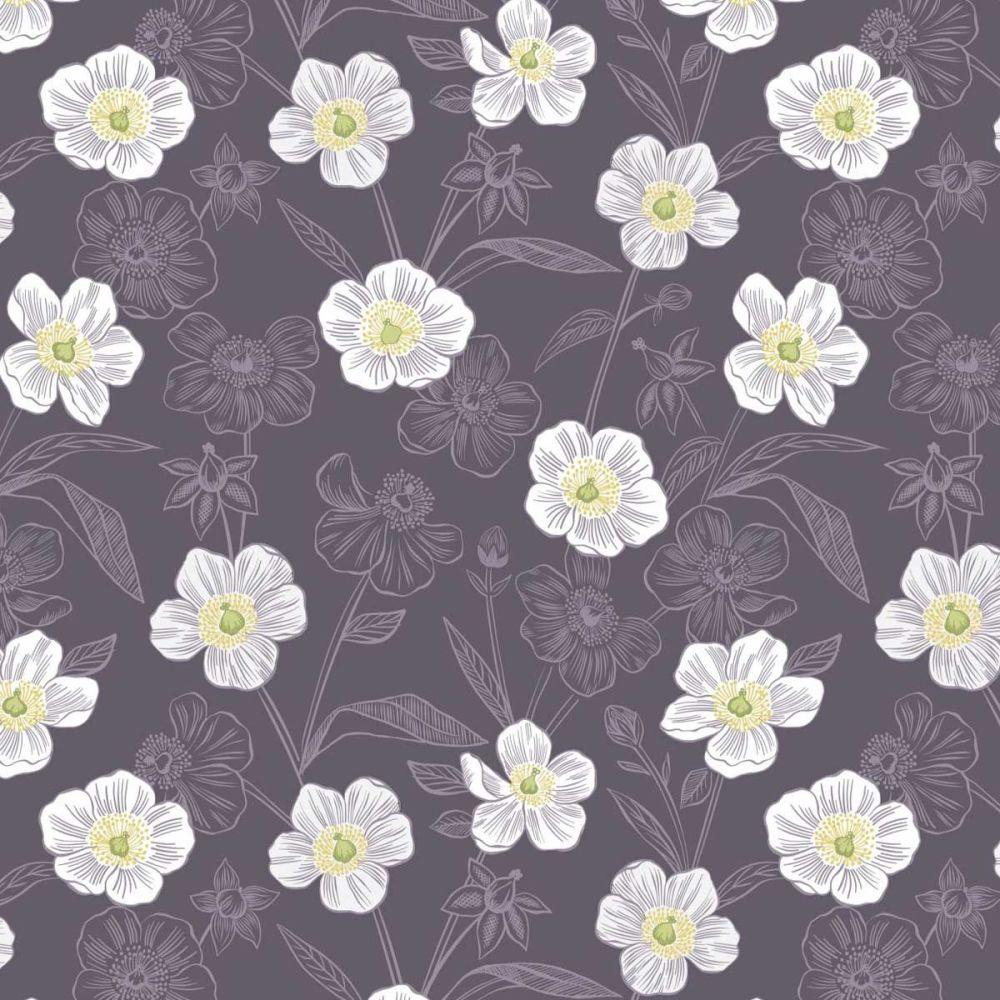 Botanic Garden ~ Lewis and Irene ~ Rambling Floral ~ Purple