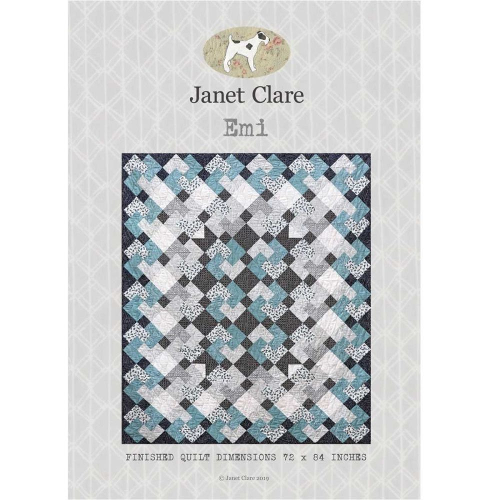 Emi Quilt Pattern ~ Janet Clare (Finished quilt measures 72 x 84 Inches)