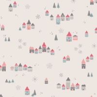 Little Town ~ Amy Sinibaldi ~ Art Gallery Fabrics ~ Snowdrift Joy