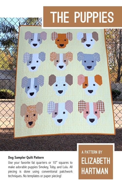The Puppies Quilt Pattern ~ Elizabeth Hartman