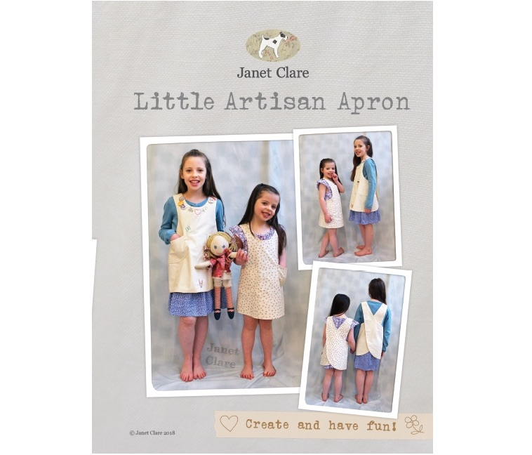 Little Artisan Apron ~ Janet Clare ~ 6 months all the way up to 11 years