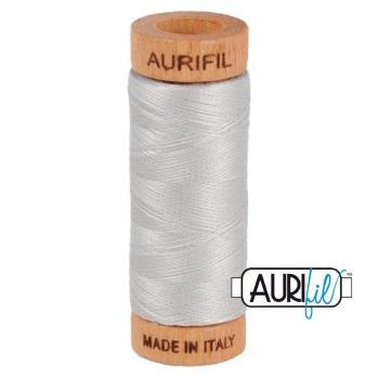 Aurifil ~ 80wt ~ 280 metres ~ 2615 ~ Aluminium